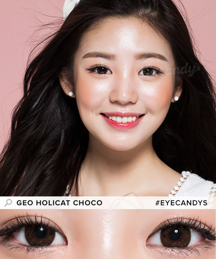 Buy GEO Holicat Lovely Cat Choco Colored Contacts | EyeCandys