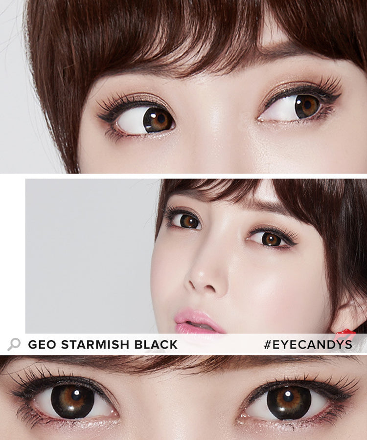 Buy GEO Starmish Black Colored Contacts | EyeCandys