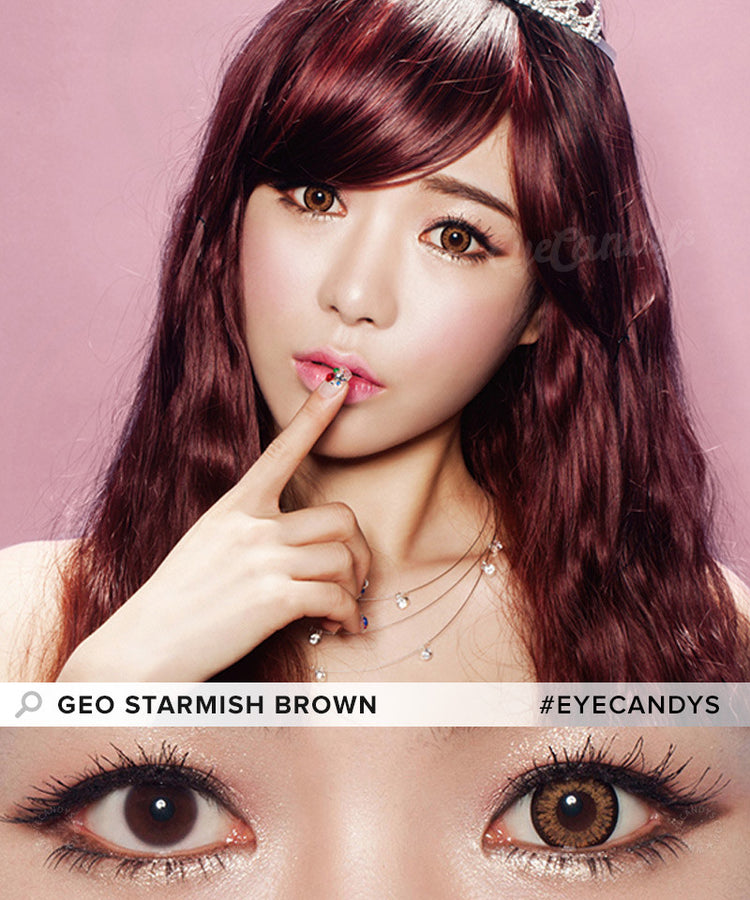 Buy GEO Starmish Brown Colored Contacts | EyeCandys