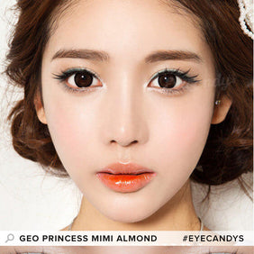 GEO Princess Mimi Almond Brown colored contact lenses - EyeCandys