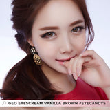 GEO Eyescream Vanilla Brown 1 pair (2 lenses) - EyeCandy's
