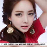 GEO Eyescream Vanilla Brown colored contacts circle lenses - EyeCandy's