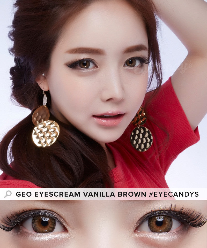 Buy GEO Eyescream Vanilla Brown Colored Contacts | EyeCandys