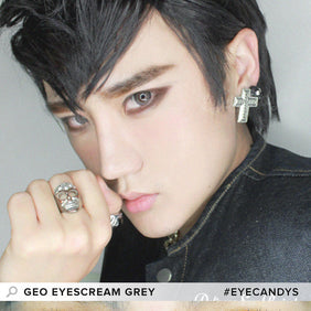 GEO Eyescream Rayray Gray colored contacts circle lenses - EyeCandy's