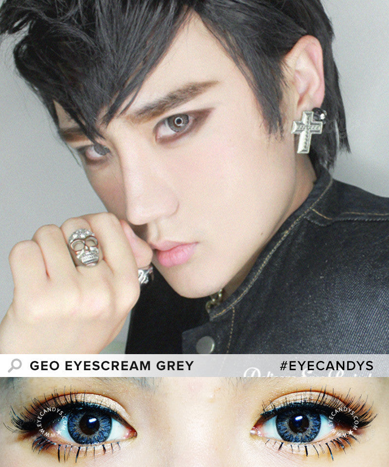 Buy GEO Eyescream Rayray Gray Colored Contacts | EyeCandys