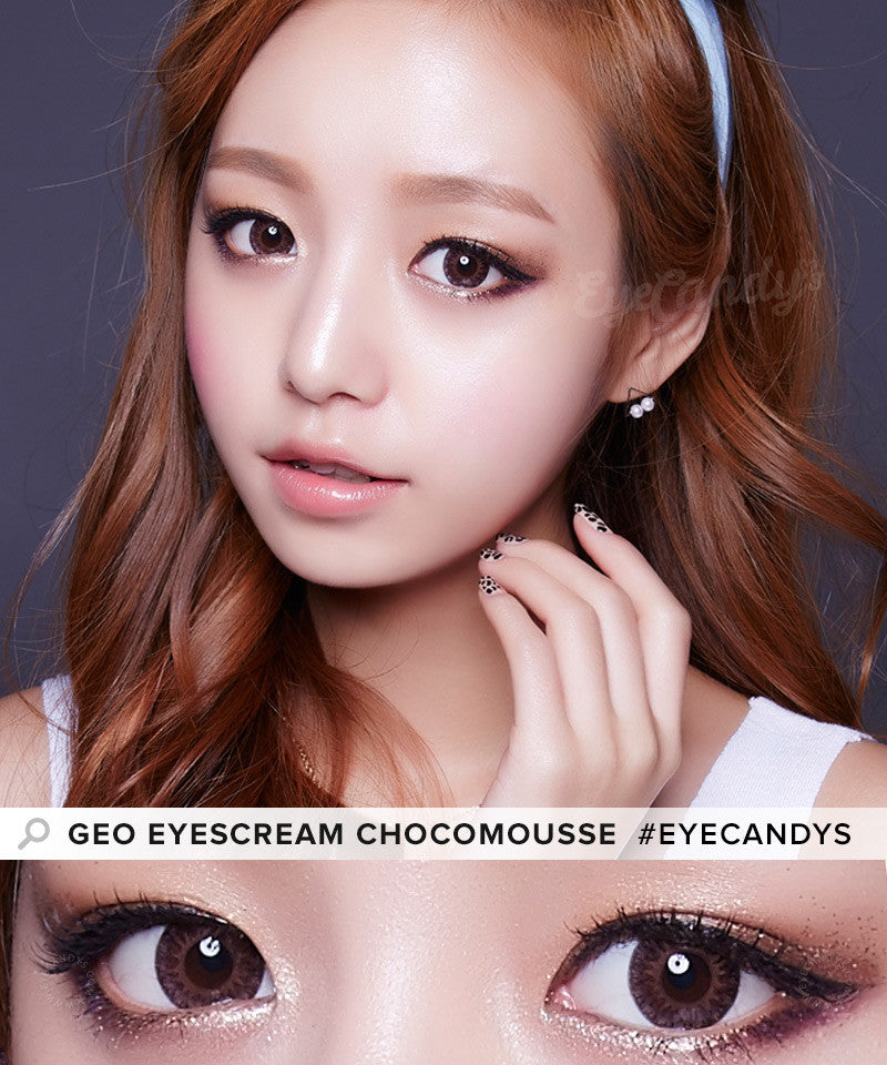 GEO Eyescream Chocomousse colored contact lenses - EyeCandys