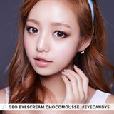 Load image into Gallery viewer, GEO Eyescream Chocomousse colored contact lenses - EyeCandys