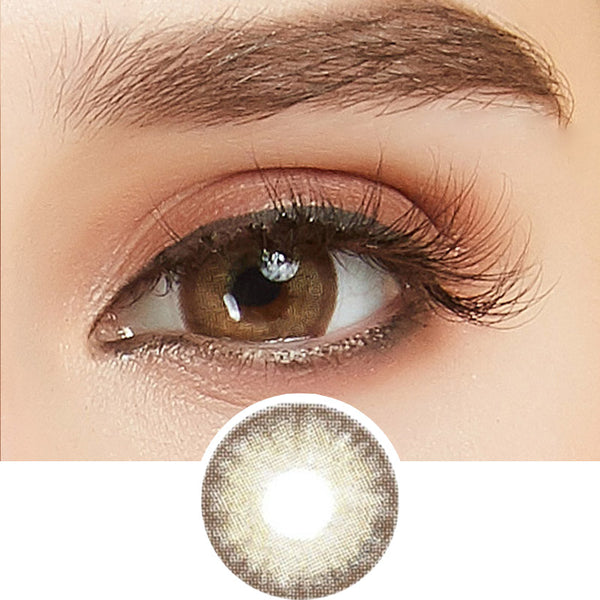 EyeCandys Glosseline Brown colored contacts circle lenses - EyeCandy's