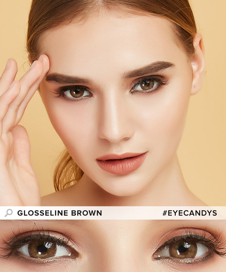 Buy EyeCandys Glosseline Brown Color Contact Lenses | EyeCandys