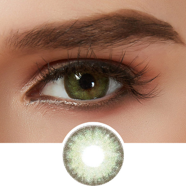EyeCandys Glosseline Green colored contacts circle lenses - EyeCandy's