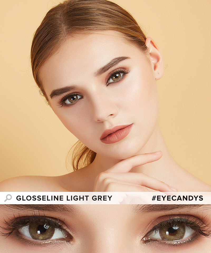 EyeCandys Glosseline Light Grey colored contacts circle lenses - EyeCandy's