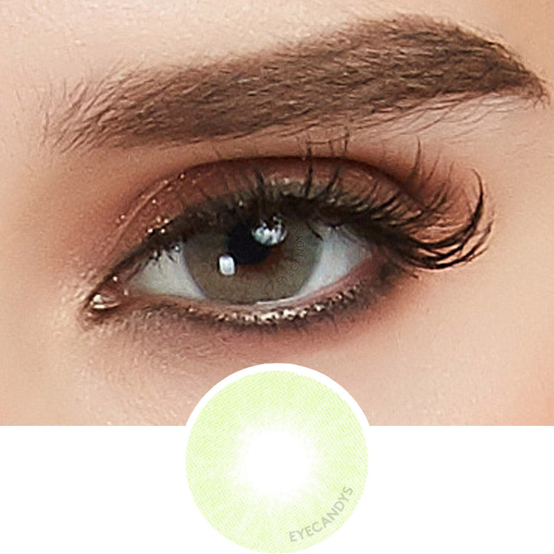 EyeCandys Glossy Green colored contacts circle lenses - EyeCandy's