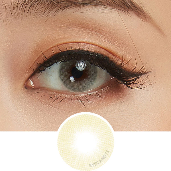 EyeCandys Glossy Ivory colored contacts circle lenses - EyeCandy's