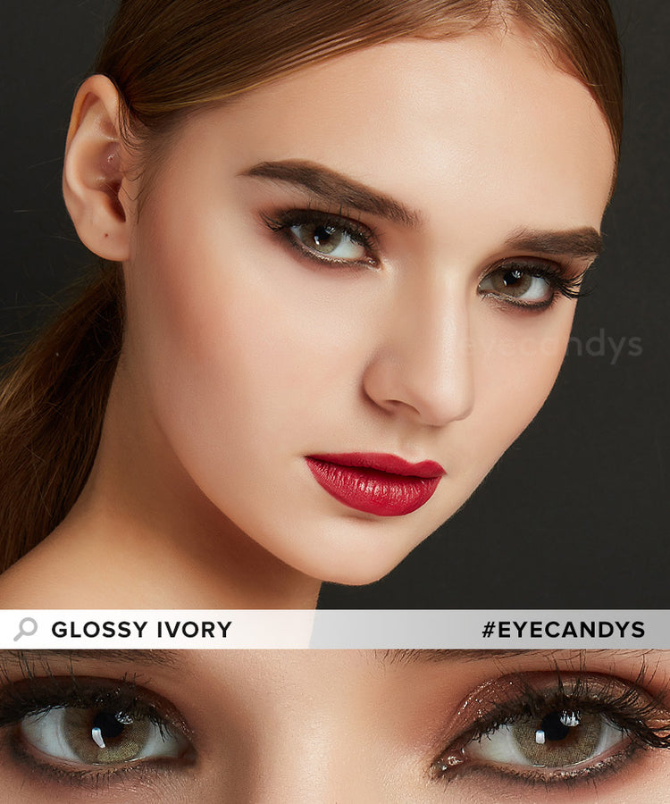 Buy EyeCandys Glossy Ivory Colored Contacts | EyeCandys