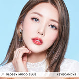 Lenstown Glossy Mood Blue colored contacts circle lenses - EyeCandy's
