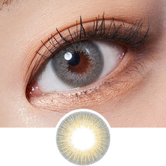 Lenstown Glossy Mood Grey colored contacts circle lenses - EyeCandy's