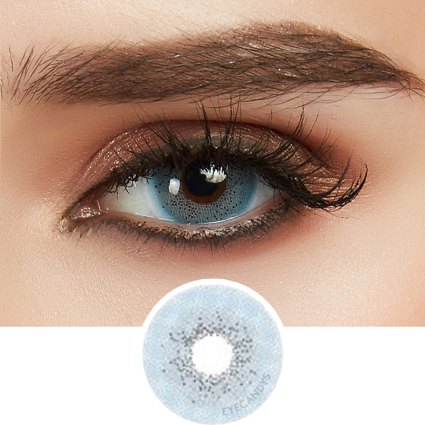 EyeCandys Glossy VG Blue colored contacts circle lenses - EyeCandy's