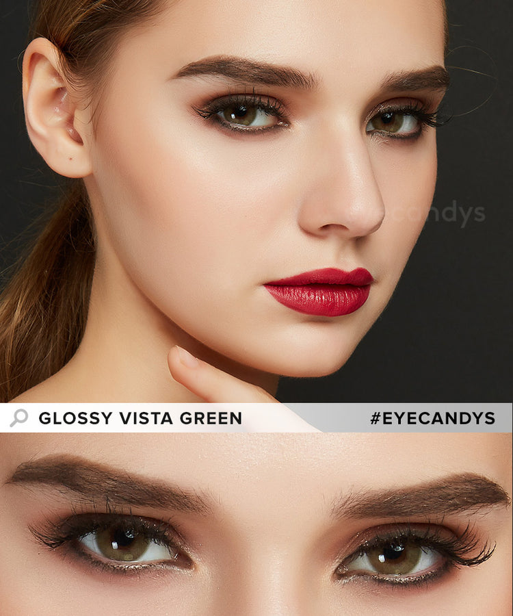 Buy EyeCandys Glossy Vista Green Color Contact Lenses | EyeCandys