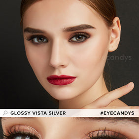 EyeCandys Glossy Vista Silver colored contacts circle lenses - EyeCandy's