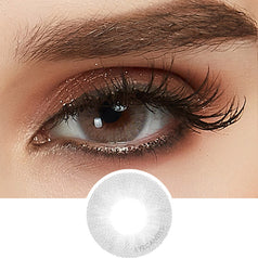 EyeCandys Glossy White-Grey colored contacts circle lenses - EyeCandy's