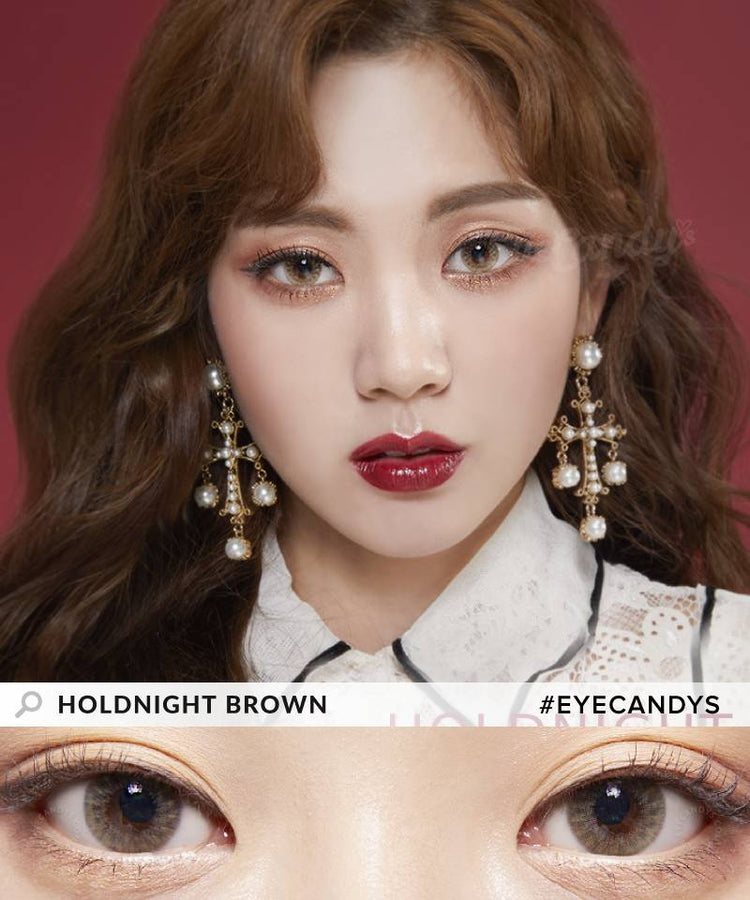 Buy Lenstown Holdnight Brown Colored Contact Lens | EyeCandys