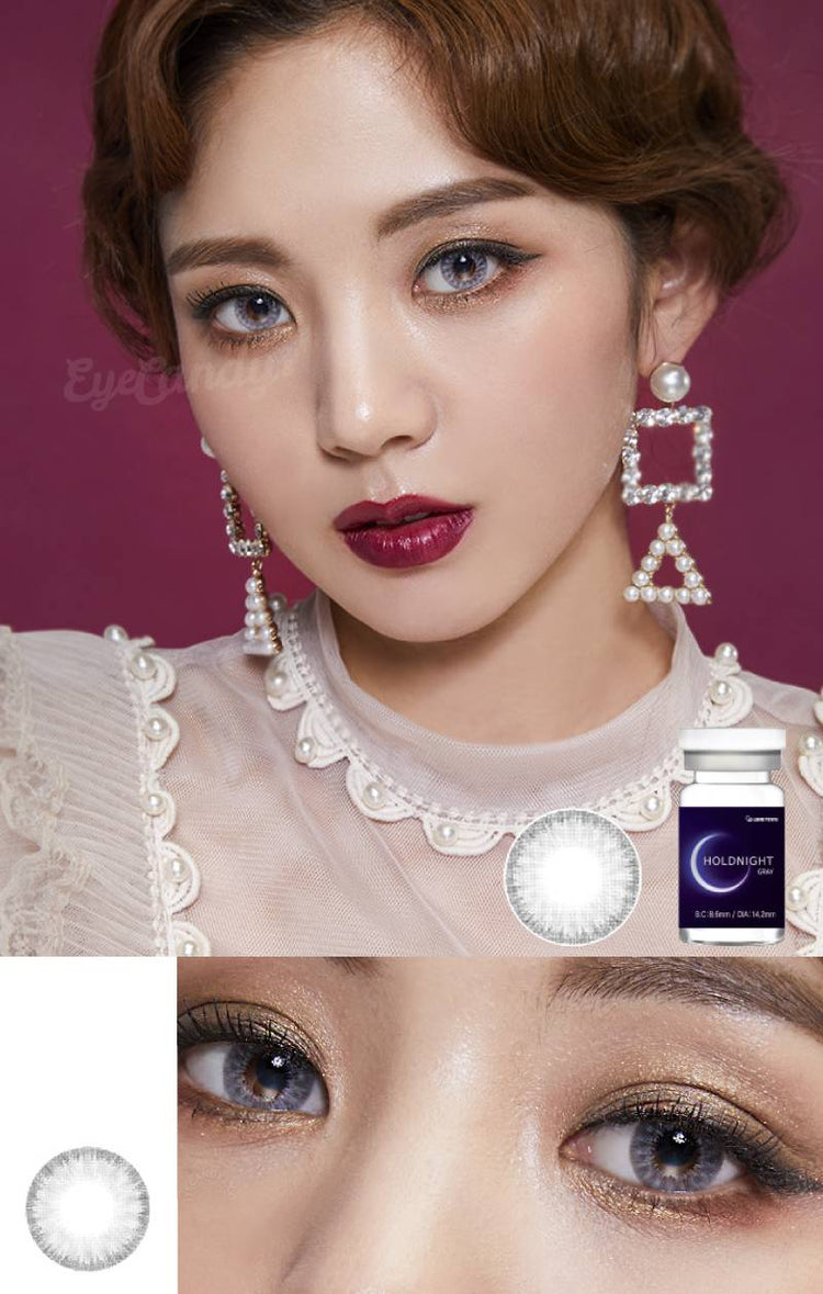 Buy Lenstown Holdnight Grey Colored Contact Lens | EyeCandys