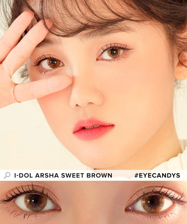 Buy i-DOL Arsha Sweet Brown Color Contacts | EyeCandys