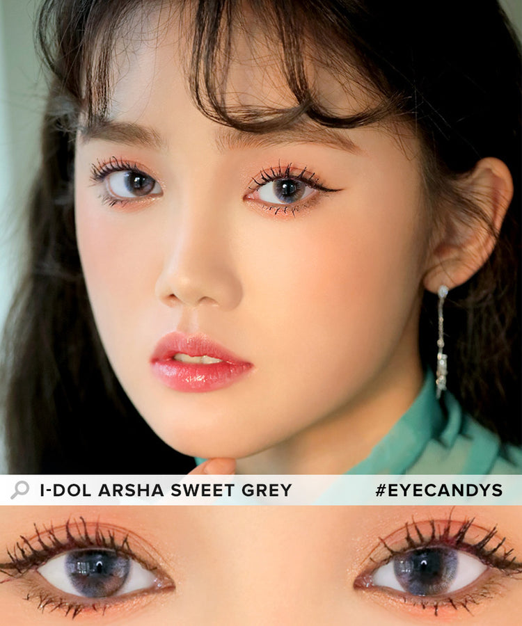 Buy i-DOL Arsha Sweet Grey Color Contacts | EyeCandys