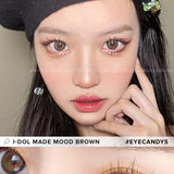 Load image into Gallery viewer, i-DOL Made Mood Brown colored contacts circle lenses - EyeCandy's