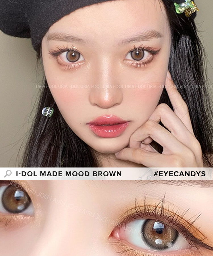 Buy i-DOL Made Mood Brown Prescription Color Contacts | EyeCandys