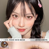i-DOL Made Skin Beige colored contacts circle lenses - EyeCandy's