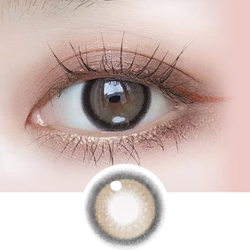 i-DOL Nanaview Cocoa Brown colored contacts circle lenses - EyeCandy's