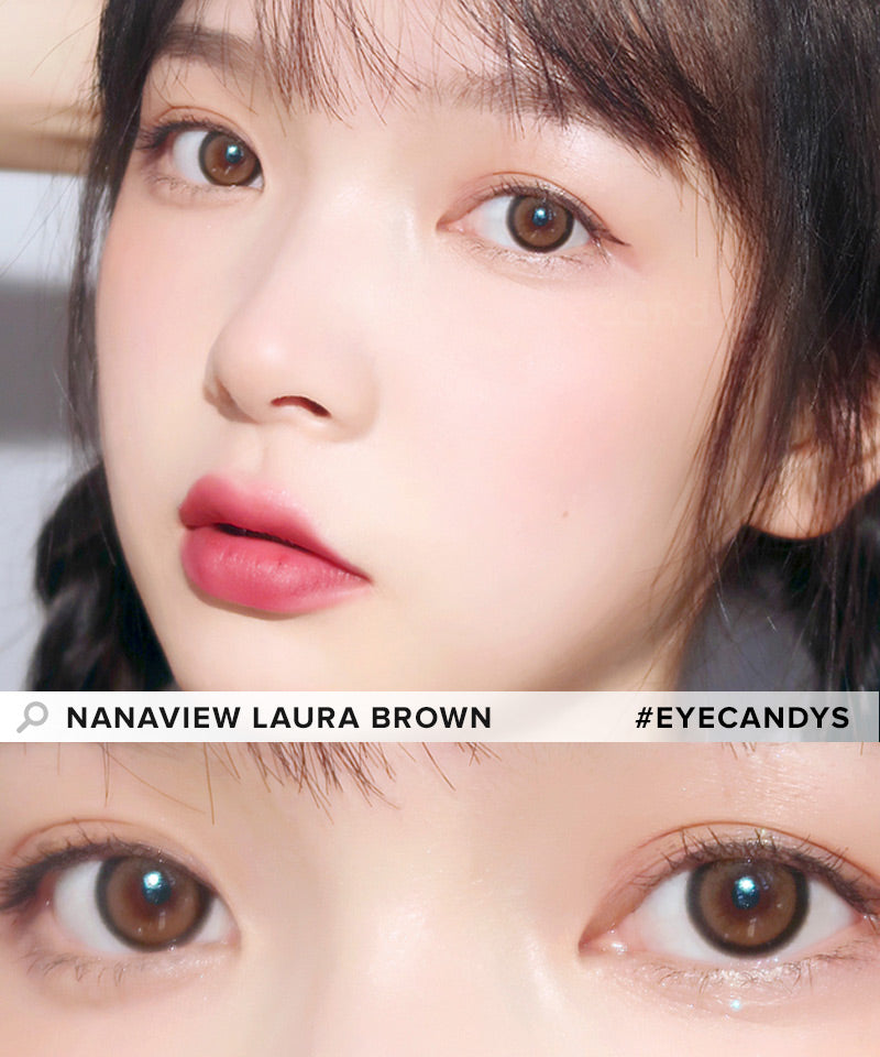 i-DOL Nanaview Laura Brown colored contacts circle lenses - EyeCandy's