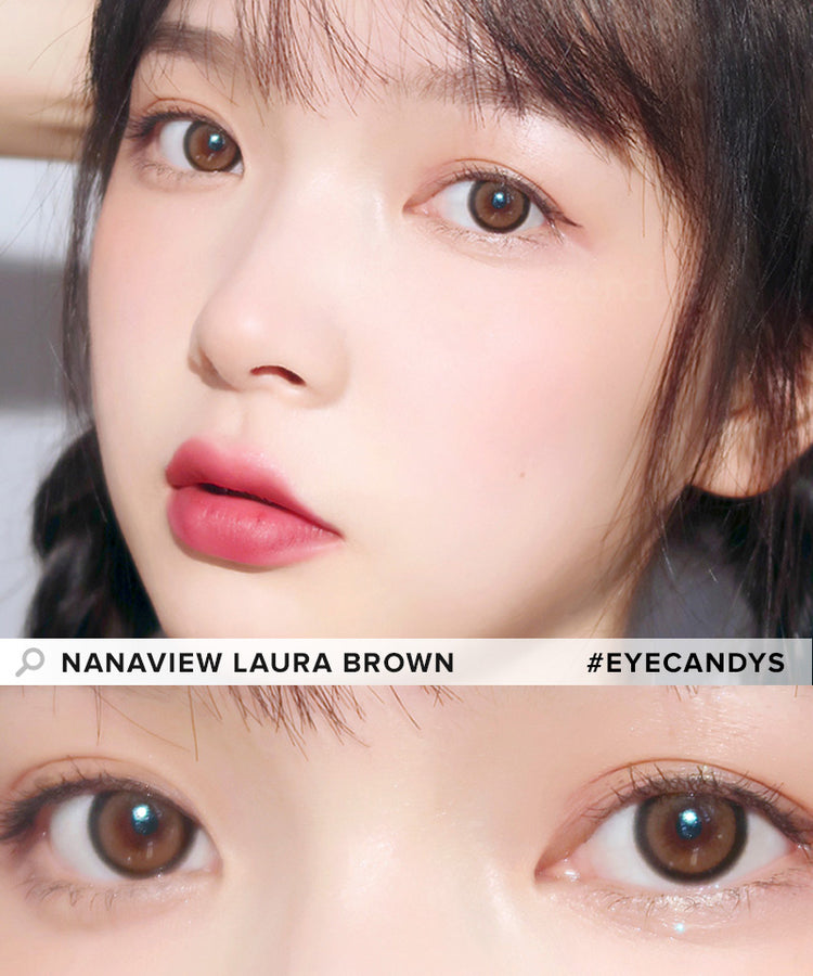 Buy i-DOL Nanaview Laura Brown Color Contacts | EyeCandys