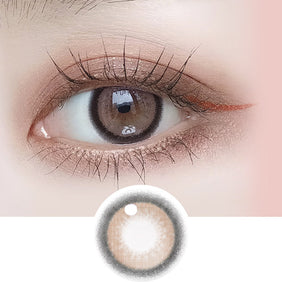 i-DOL Nanaview Rose Brown colored contacts circle lenses - EyeCandy's