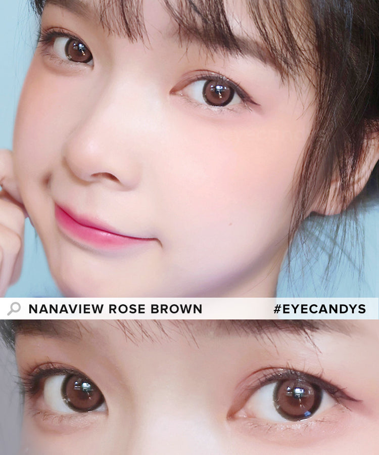 Buy i-DOL Nanaview Rose Brown Color Contacts | EyeCandys