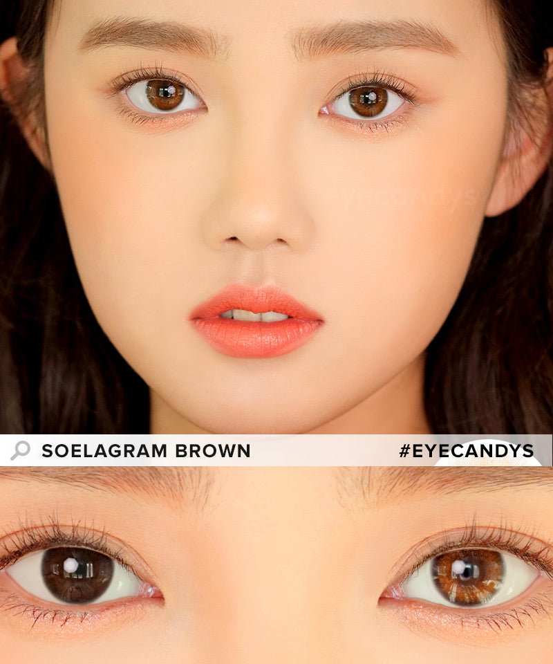 i-DOL Soelagram Brown colored contacts circle lenses - EyeCandy's