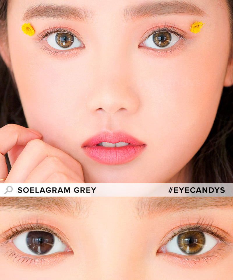 i-DOL Soelagram Grey colored contacts circle lenses - EyeCandy's