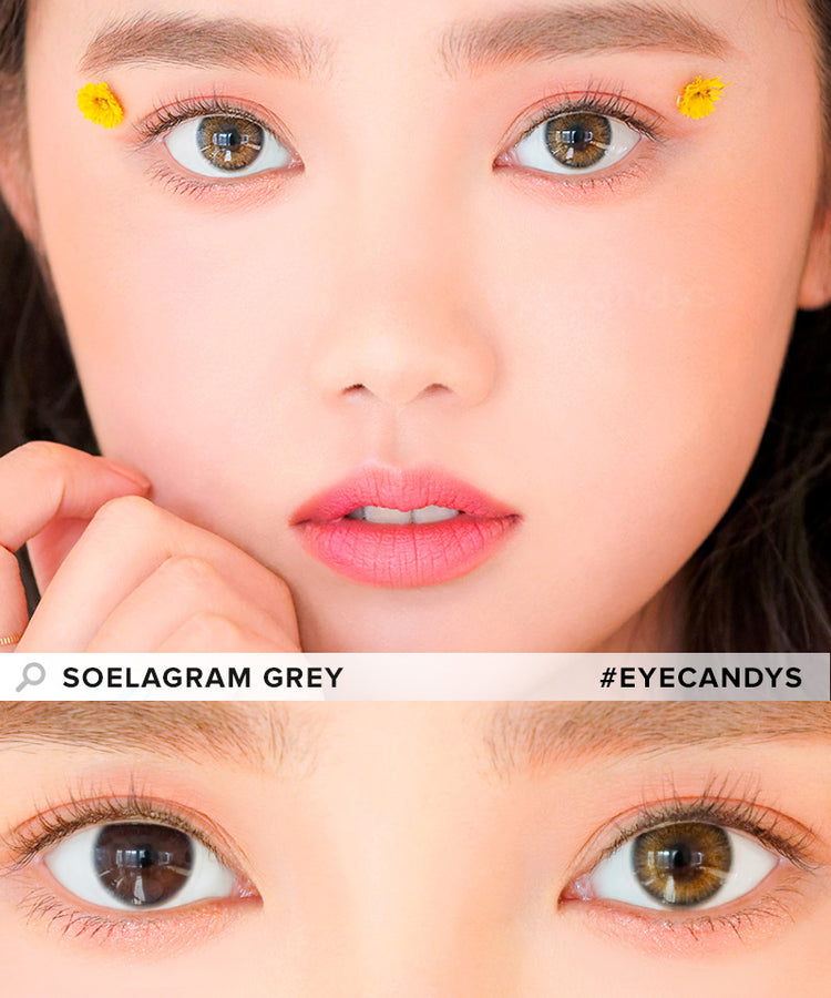 Buy i-DOL Soelagram Grey Color Contacts | EyeCandys