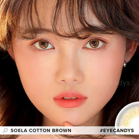 i-DOL Soela Cotton Brown colored contacts circle lenses - EyeCandy's