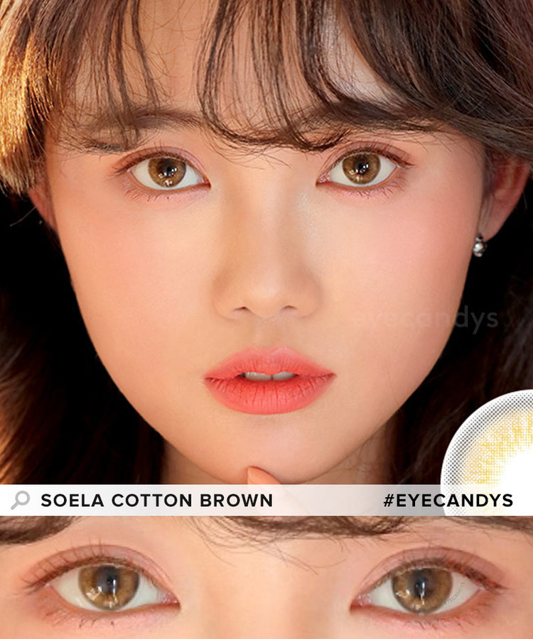 Buy i-DOL Soela Cotton Brown Color Contacts | EyeCandys