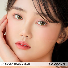 i-DOL Soela Haze Green colored contacts circle lenses - EyeCandy's