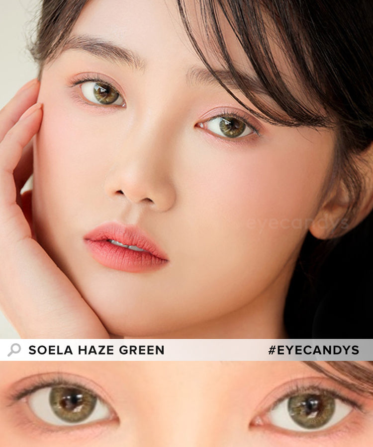 Buy i-DOL Soela Haze Green Color Contacts | EyeCandys