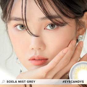 i-DOL Soela Mist Grey colored contacts circle lenses - EyeCandy's