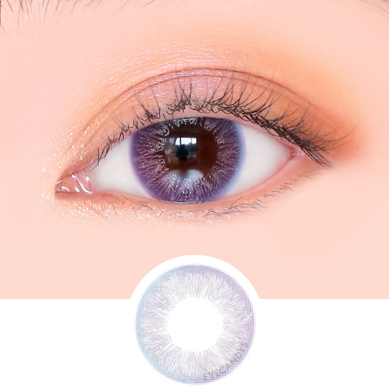 i-Girl Fairy Yume Ash Purple colored contacts circle lenses - EyeCandy's