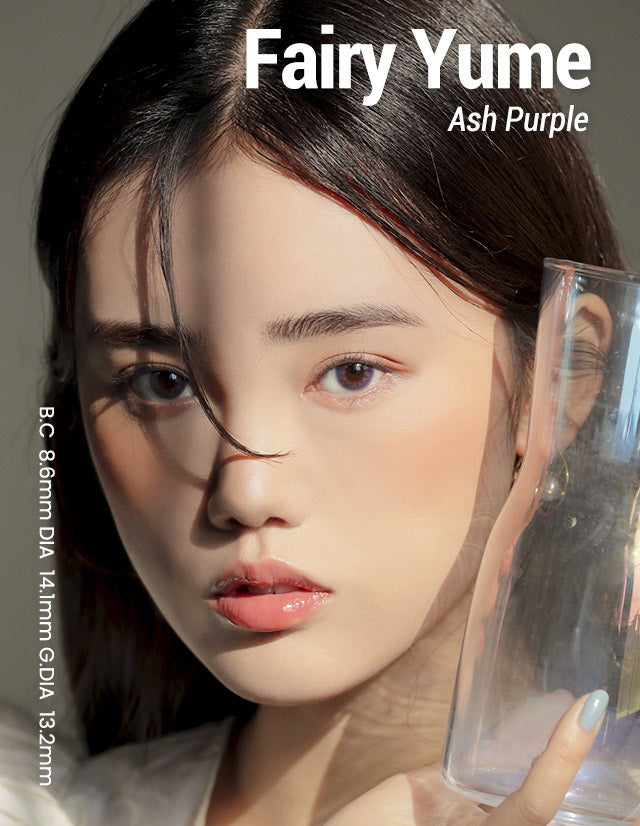 Buy i-Girl Fairy Yume Ash Purple Colored Contacts | EyeCandys