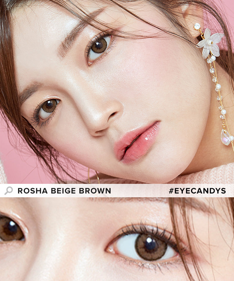 i-Girl Rosha Beige Brown colored contacts circle lenses - EyeCandy's