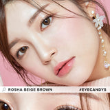 Load image into Gallery viewer, i-Girl Rosha Beige Brown colored contacts circle lenses - EyeCandy's