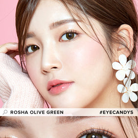 i-Girl Rosha Olive Green colored contacts circle lenses - EyeCandy's