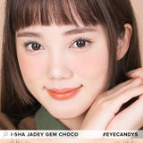 i-Sha Jadey Gem Choco colored contacts circle lenses - EyeCandy's